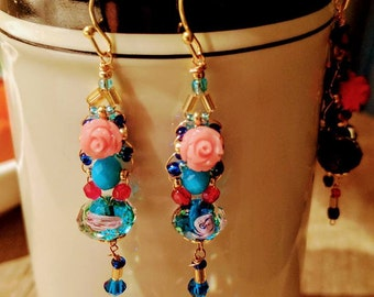 Romantic earrings Rose 07