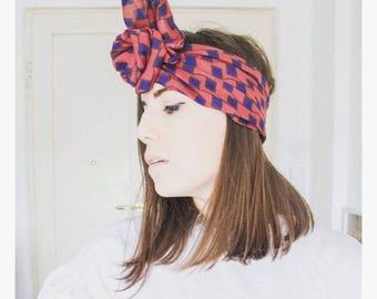 headband/turban/headband silk Burgundy Maxmara