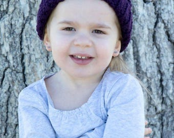 Toddler Crochet Cable Hat