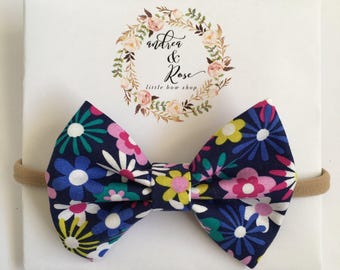 Sun Flowers in Colors Bow | Headband