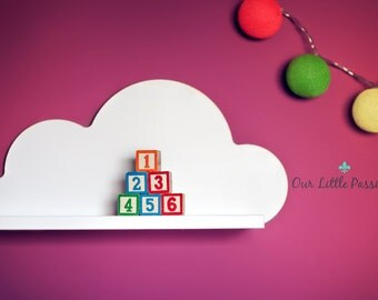 Cloud Shelf, Shelf For Baby Nursery, Kids Room, Wall Decorations, Decorations for Bedroom, Laminated Board, Decor, Wall Artwork Clouds