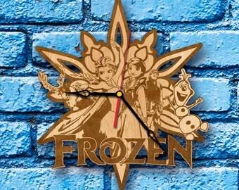 Frozen Birthday Frozen decor clock Frozen wall decor Frozen home decor frozen theme party olaf birthday costume frozen olaf wall art