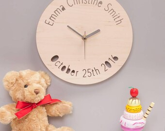 Personalised Childrens Wall Clock