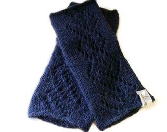 Alpaca fingerless gloves, knitted mittens,handmade fingerless gloves,warm knit gloves,hand warmers,seamless gloves,fingerless soft mittens