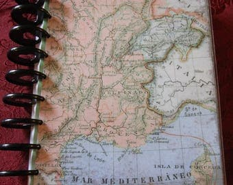 European Map Planner Cover / Happy Planner 9 hole