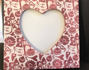 Valentine Decoupage Wooden Picture Frame
