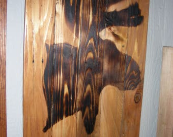 A Moose Head on Reclaimed Wood