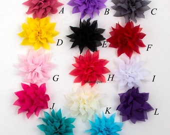 """Free Shipping Tulle Lotus Chiffon Flower For Children Hair Accessories Chic Artificial Fabric Flowers For Headbands Flower Supplies 4.4"""""""