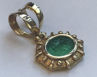 18k Venetian Glass Pendant