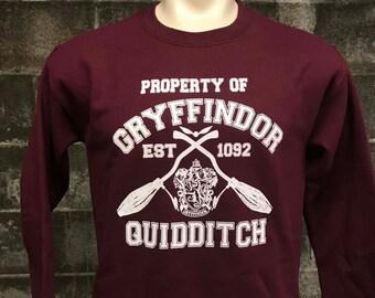 Gryffindor Harry Potter sweatshirt - Gryffindor Quidditch Team Crew neck- Unisex - Awesome Hogwarts sweater Pullover - Super Soft Interior