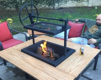 Wood firepit grill and barbeque - SOLD OUT