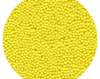 Yellow Non Pareils Edible Cake, cupcake, Cookie Topping Decorations