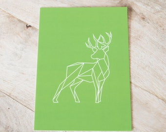 Deer Art print-Graphic animals 13 x 18
