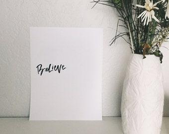 Believe   Card stock