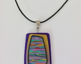 Purple Rectangular Pendant
