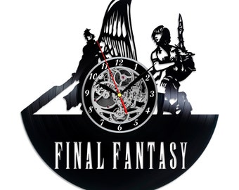 Final Fantasy retro Vinyl record clock Home design home decor wall clock