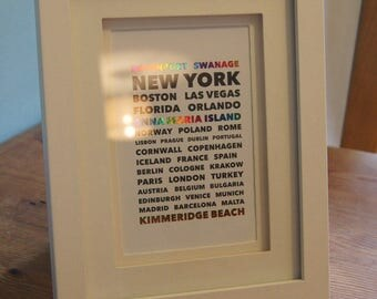 Personalised City / Countries Print
