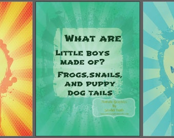 Digital Print Download / Little Boys Trio