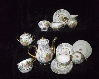 Play Rosy China porcelain tea set