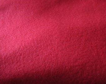 6 Red Fleece Vintage Fleece Blanket Fabric