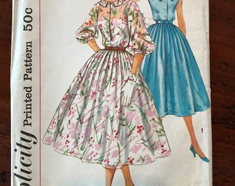 Vintage Simplicity Pattern - One Piece Dress