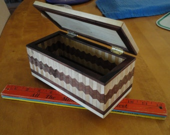 Walnut & Maple Wood Box