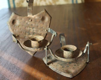 Antique/primitive early nautical German ship candle holders ***SALE***
