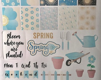 Spring has sprung planner sticker sheet