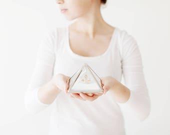 Glass Geometric Jewelry Box, Modern Jewelry Box