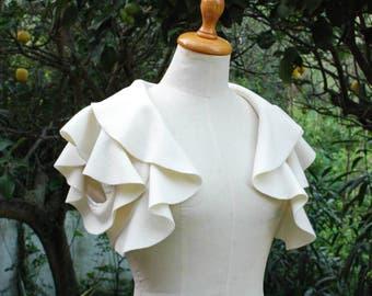 Ivory Wedding Bolero. Ivory Wedding Bolero Jacket. Drape Bolero. Bridal Bolero Jacket. Wedding Jacket. Bridesmaid jacket. Ready to Ship.