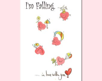 Happy Hearties ... I'm Falling in Love with you  Greeting Card