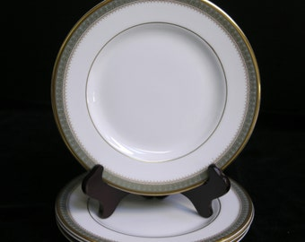 Set of 4 Bread & Butter Plates Royal Doulton Fine Bone China Dinnerware Elegant Clarendan Pattern