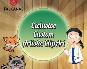 Exclusive Custom Artistic ClipArt