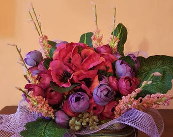 Basket with anemones