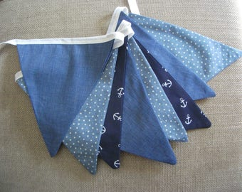 Cotton Bunting, blue