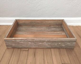 Reclaimed Wood Tray - Reclaimed Florida Cypress
