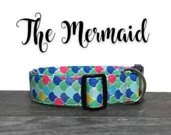 Mermaid Dog Collar, Cute Dog Collars, Collars for Dogs, Mermaid Collar, Collar for Girl Dog, Girl Dog Collars, Sparkle Collar for Dogs