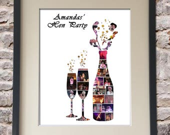 Hen Party Digital Collage