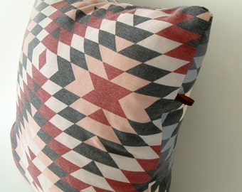 Aztec grey and red