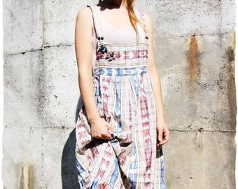 Overalls skirt in organic cotton