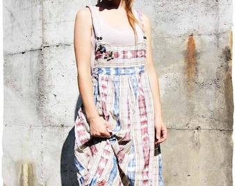 Overalls skirt in organic cotton
