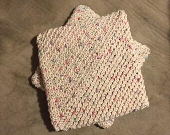 Double Thick Crocheted Potholder - handmade