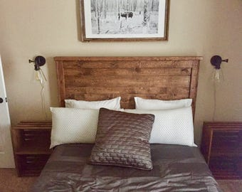 Bed Frame - Antique Bed - Custom Wood Headboard