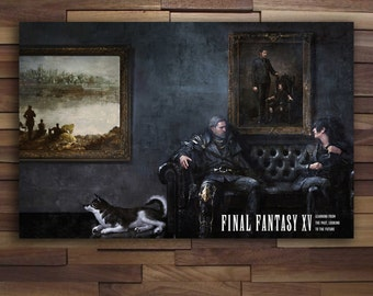 Final Fantasy XV Father and Son Poster - Canvas