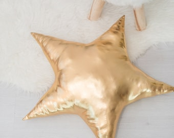 Gold star pillow,kids room decor,cushion,, children's pillows, kids room decor, kids pillows, baby bedding, kids interior, decorative pillow