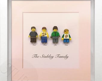 Lego personalised family Minifigure picture frame