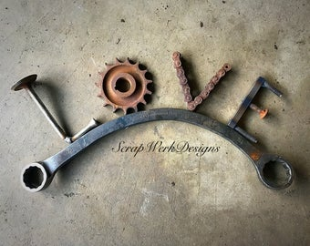 Love rustic Wrench wall art