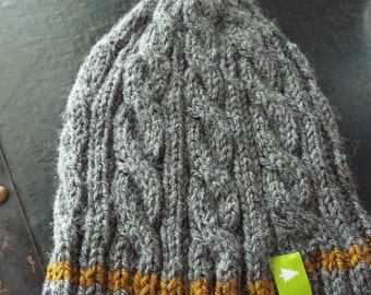 Boys Cable Gray Hat