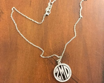 Monogrammed bling necklace