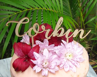 CUSTOM NAME Cake Topper, wooden cake topper for birthday, special occassion, party